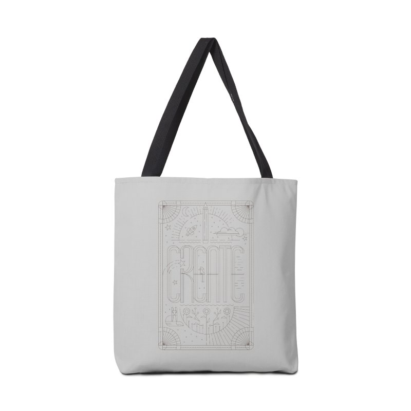 Create - Grey Accessories Tote Bag Bag by Willoughby Goods