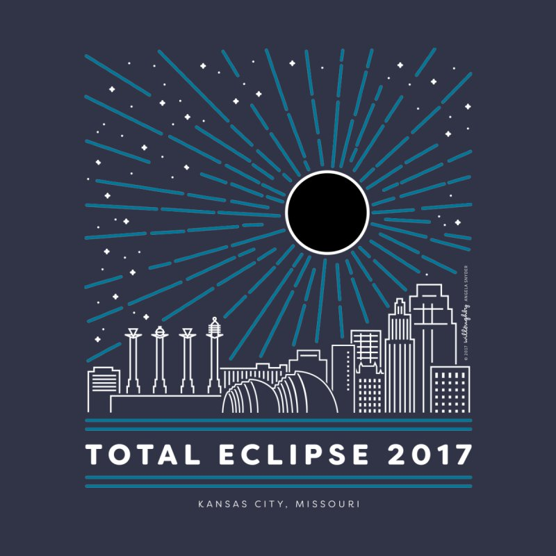 Total Eclipse 2017 – Kansas City Kids T-Shirt by Willoughby Goods