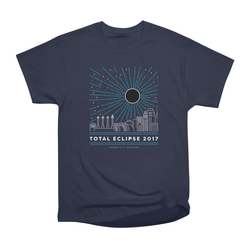 Total Eclipse 2017 – Kansas City Women's Heavyweight Unisex T-Shirt by Willoughby Goods