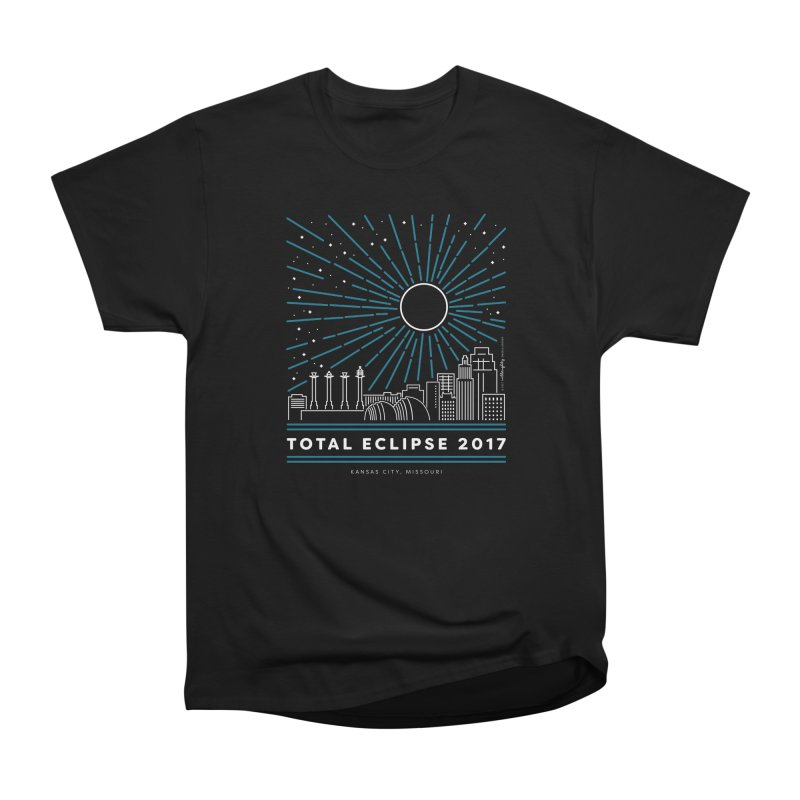 Total Eclipse 2017 – Kansas City Men's Heavyweight T-Shirt by Willoughby Goods