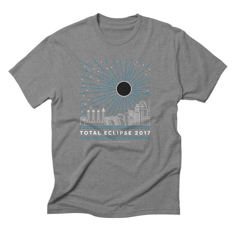 Total Eclipse 2017 – Kansas City Men's Triblend T-Shirt by Willoughby Goods