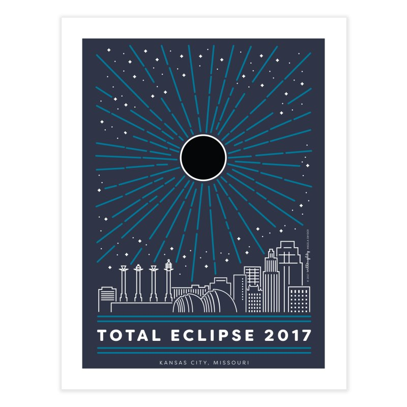 Total Eclipse 2017 – Kansas City Home Fine Art Print by Willoughby Goods