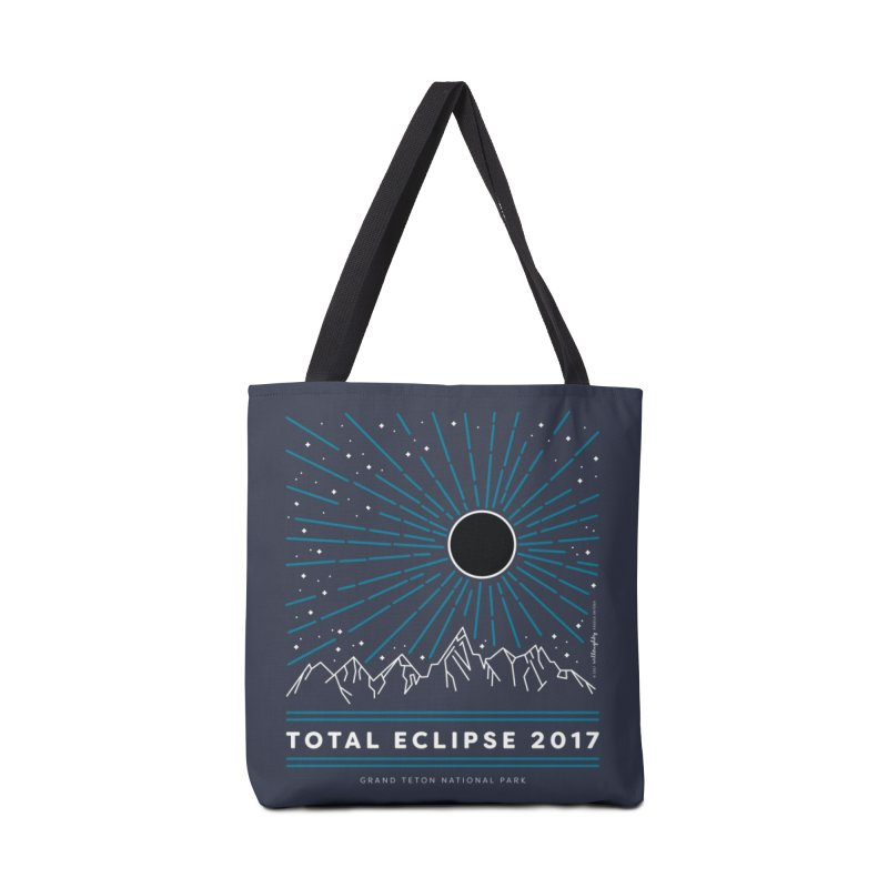 Total Eclipse 2017 – Grand Teton National Park Accessories Tote Bag Bag by Willoughby Goods