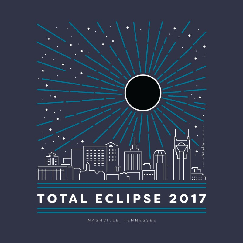 Total Eclipse 2017 – Nashville Women's T-Shirt by Willoughby Goods