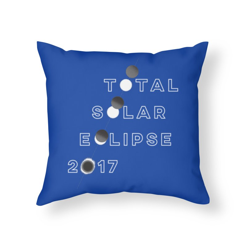 IN THE PATH OF THE ECLIPSE Home Throw Pillow by Willoughby Goods
