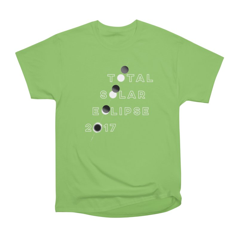 IN THE PATH OF THE ECLIPSE Men's Heavyweight T-Shirt by Willoughby Goods