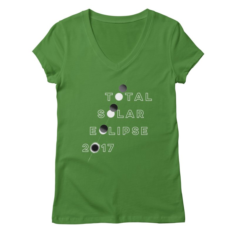 IN THE PATH OF THE ECLIPSE Women's Regular V-Neck by Willoughby Goods