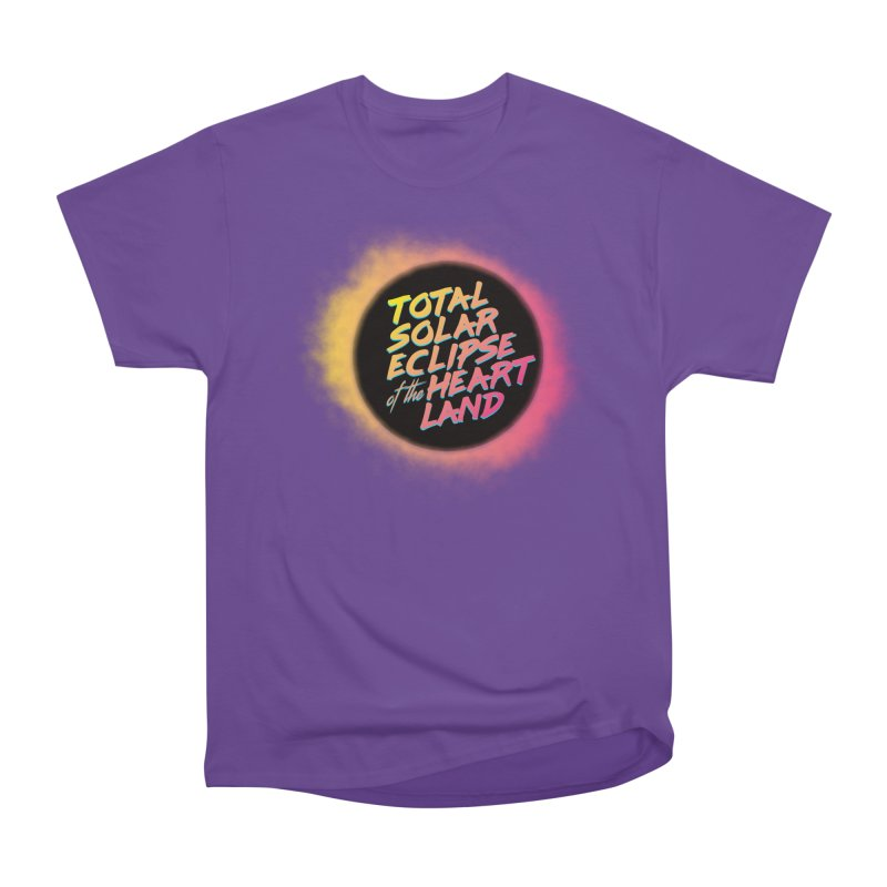 Total Eclipse of the Heartland Men's Heavyweight T-Shirt by Willoughby Goods