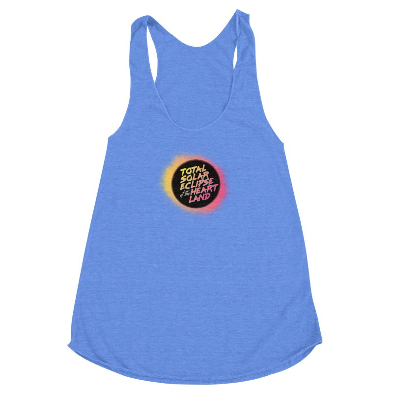 Total Eclipse of the Heartland Women's Racerback Triblend Tank by Willoughby Goods