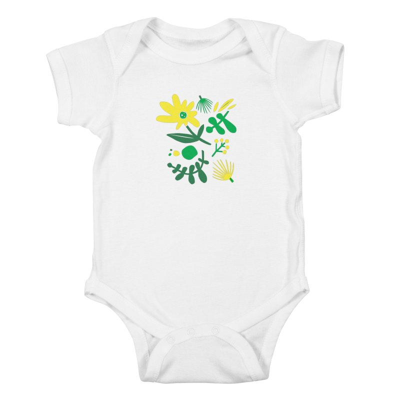 Happy, Wild & Free Kids Baby Bodysuit by Willoughby Goods