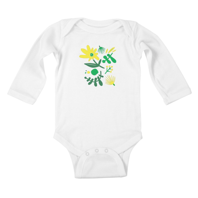 Happy, Wild & Free Kids Baby Longsleeve Bodysuit by Willoughby Goods