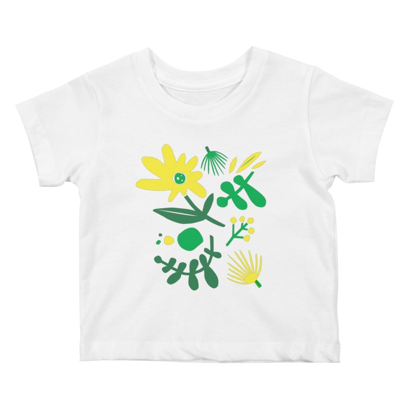 Happy, Wild & Free Kids Baby T-Shirt by Willoughby Goods