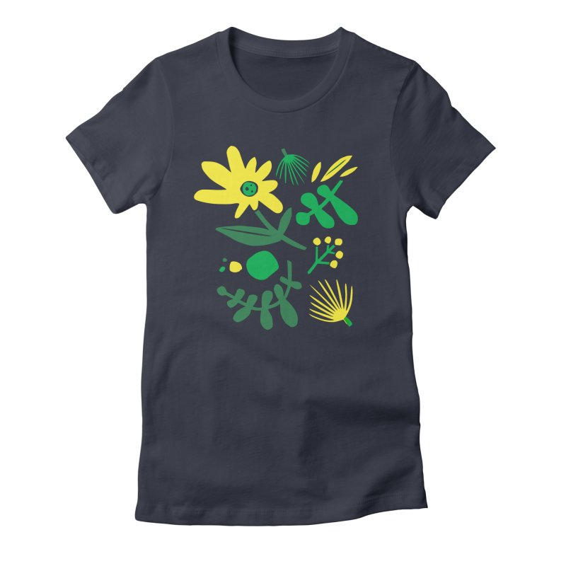 Happy, Wild & Free Women's Fitted T-Shirt by Willoughby Goods
