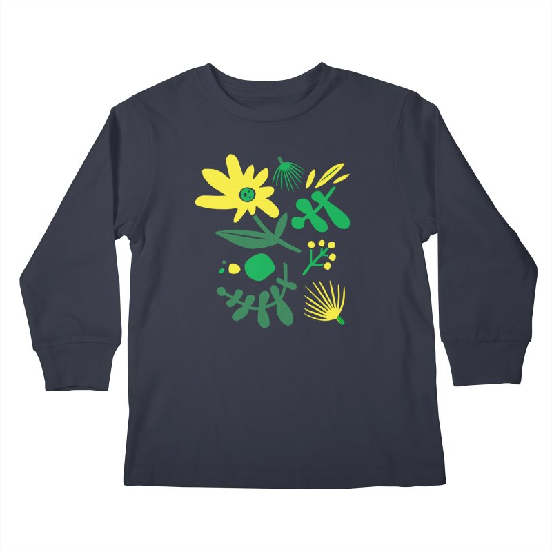 Happy, Wild & Free Kids Longsleeve T-Shirt by Willoughby Goods