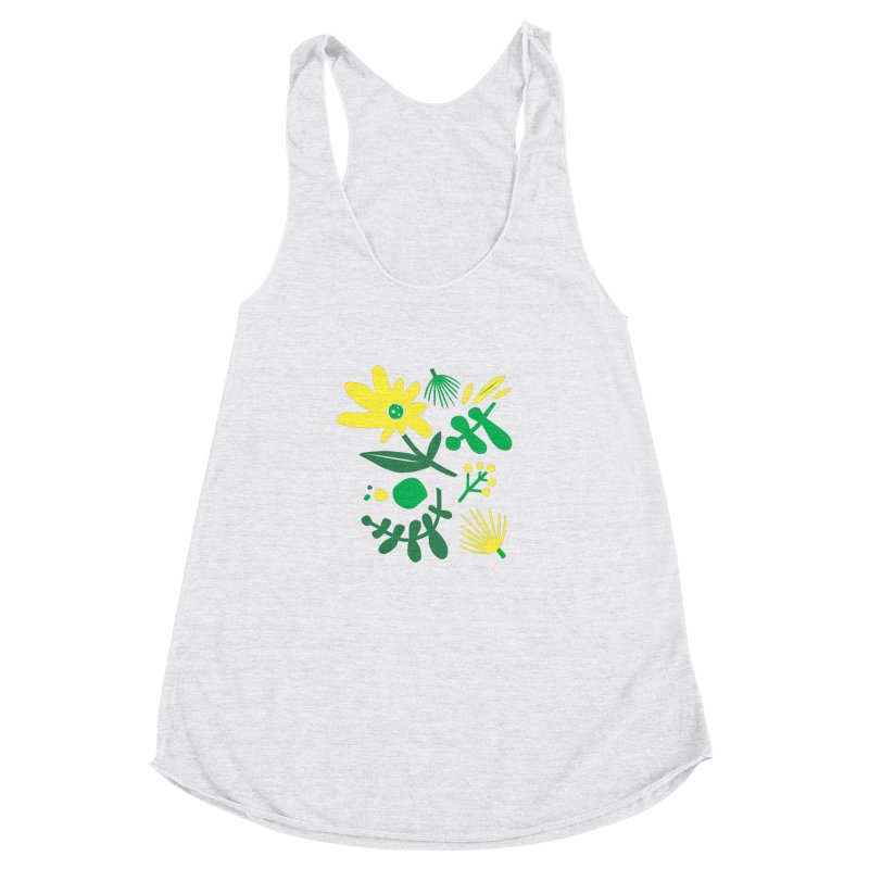 Happy, Wild & Free Women's Racerback Triblend Tank by Willoughby Goods