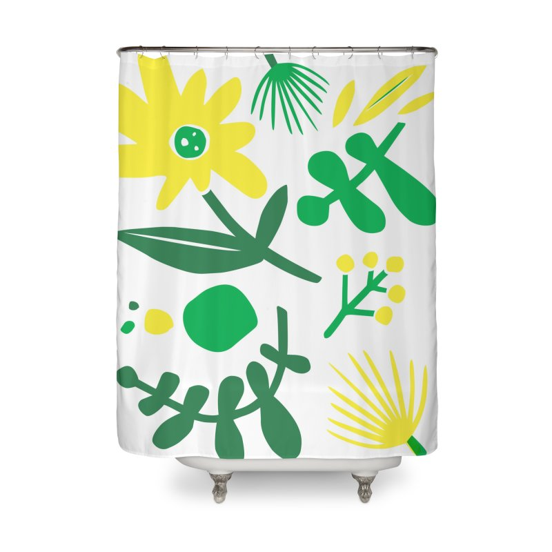 Happy, Wild & Free Home Shower Curtain by Willoughby Goods