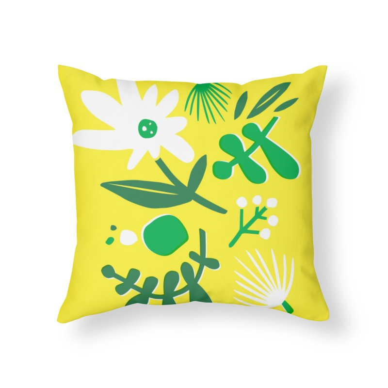 Happy, Wild & Free Home Throw Pillow by Willoughby Goods
