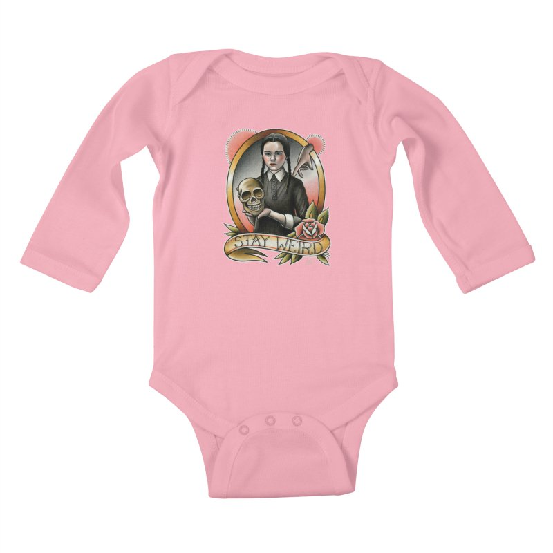 Weird Wednesday Kids Baby Longsleeve Bodysuit by wilson's Artist Shop
