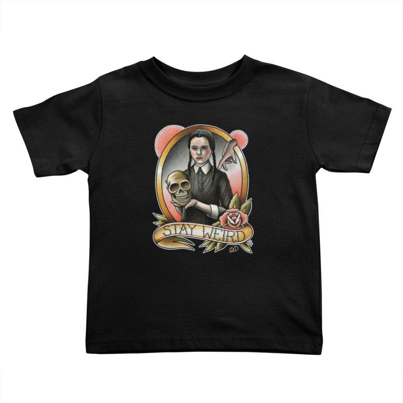Weird Wednesday Kids Toddler T-Shirt by wilson's Artist Shop