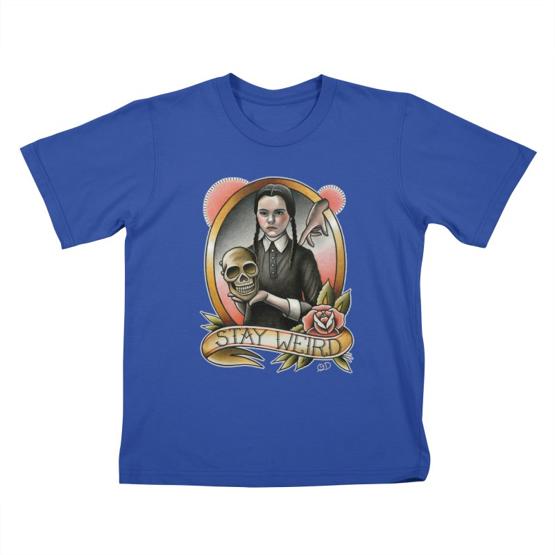 Weird Wednesday Kids T-shirt by wilson's Artist Shop