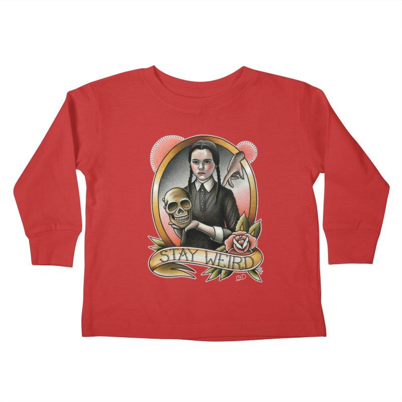 Weird Wednesday Kids Toddler Longsleeve T-Shirt by wilson's Artist Shop