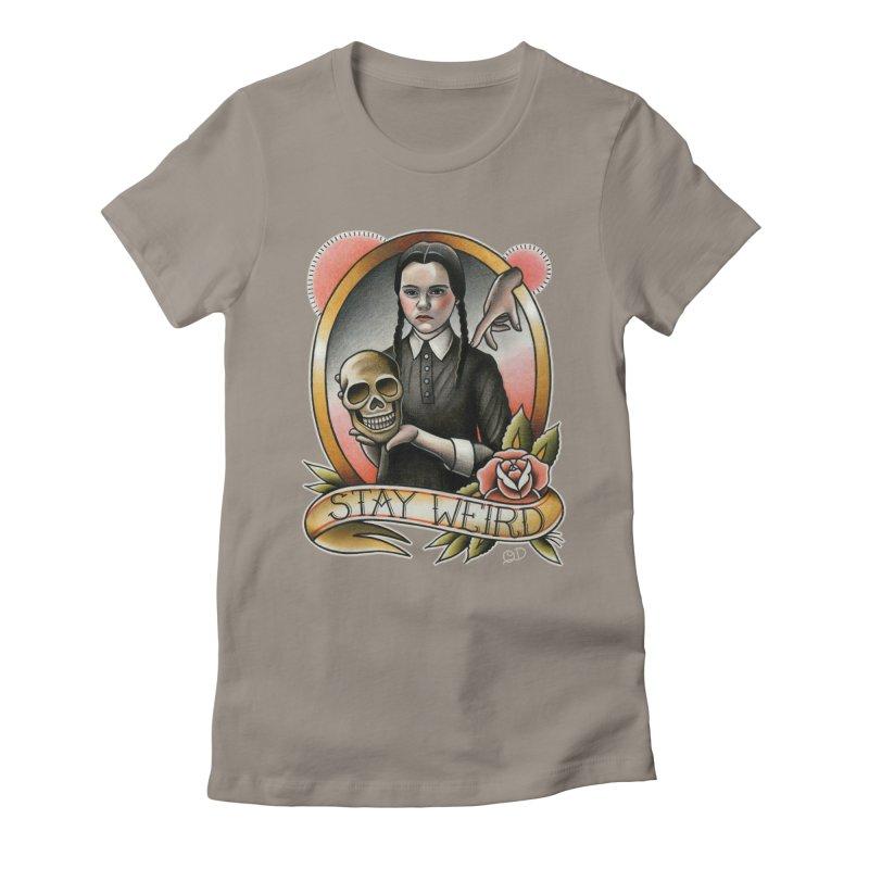 Weird Wednesday Women's Fitted T-Shirt by wilson's Artist Shop