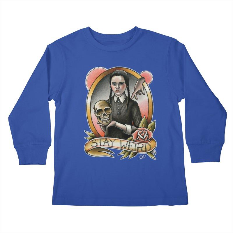 Weird Wednesday Kids Longsleeve T-Shirt by wilson's Artist Shop