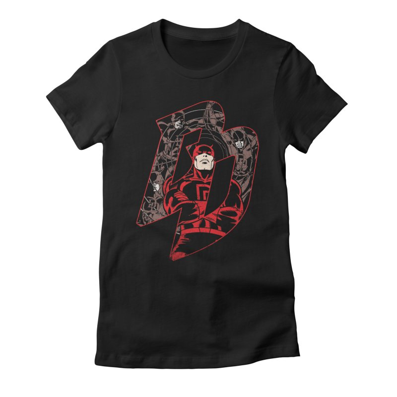 Daredevil Women's Fitted T-Shirt by wilson's Artist Shop