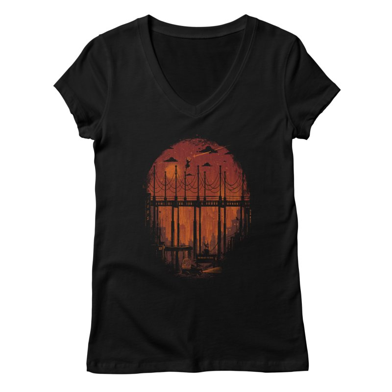 logo Women's V-Neck by wilson's Artist Shop