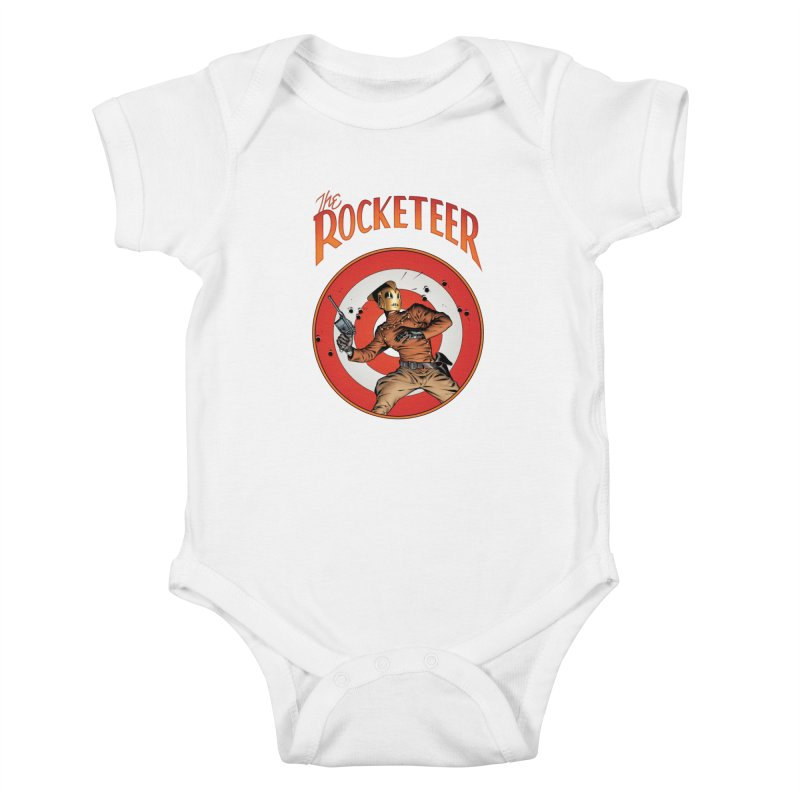 Rocketeer test Kids Baby Bodysuit by wilson's Artist Shop