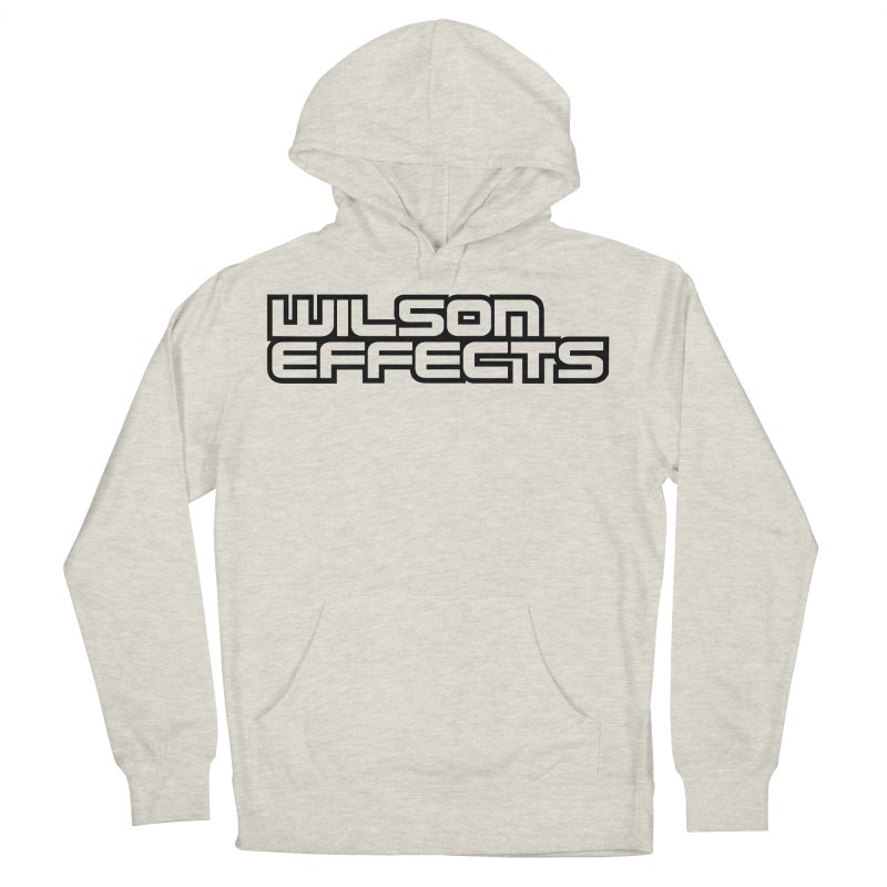 Wilson Effects Black Logo Women's French Terry Pullover Hoody by Wilson Effects Artist Shop