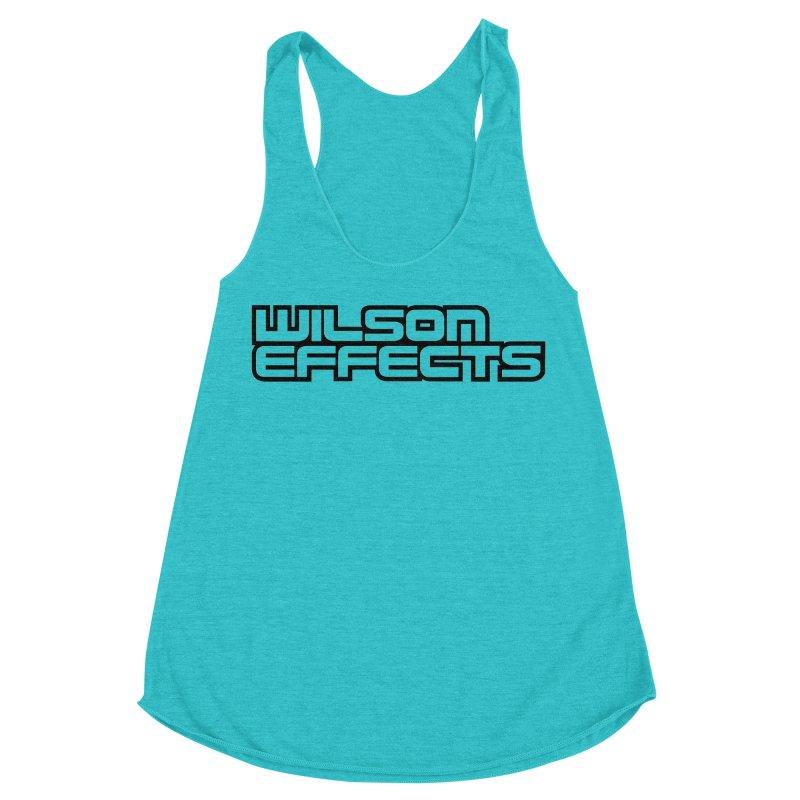 Wilson Effects Black Logo Women's Racerback Triblend Tank by Wilson Effects Artist Shop