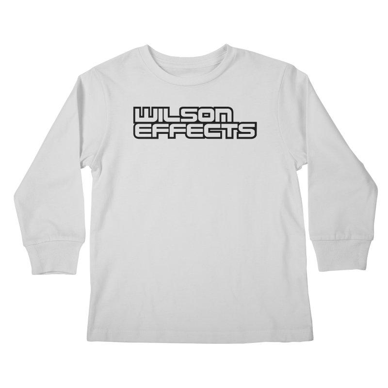Wilson Effects Black Logo Kids Longsleeve T-Shirt by Wilson Effects Artist Shop