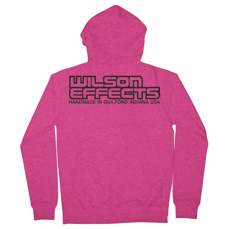 Wilson Logo Handmade in Guilford, IN. Women's French Terry Zip-Up Hoody by Wilson Effects Artist Shop