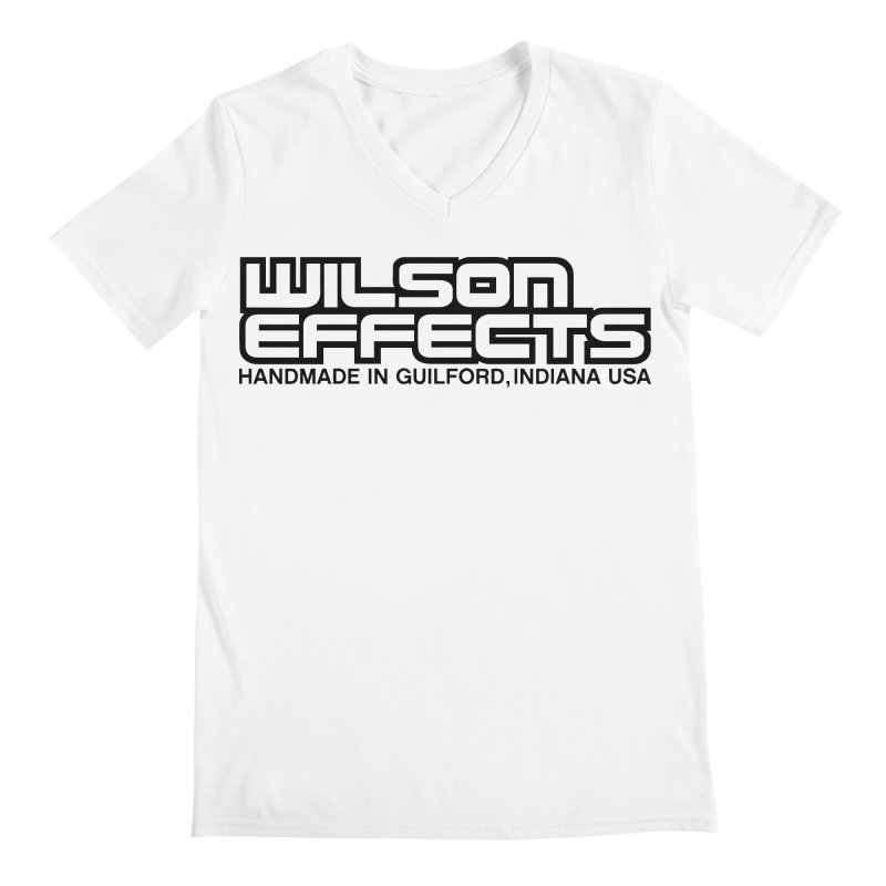 Wilson Logo Handmade in Guilford, IN. Men's V-Neck by Wilson Effects Artist Shop