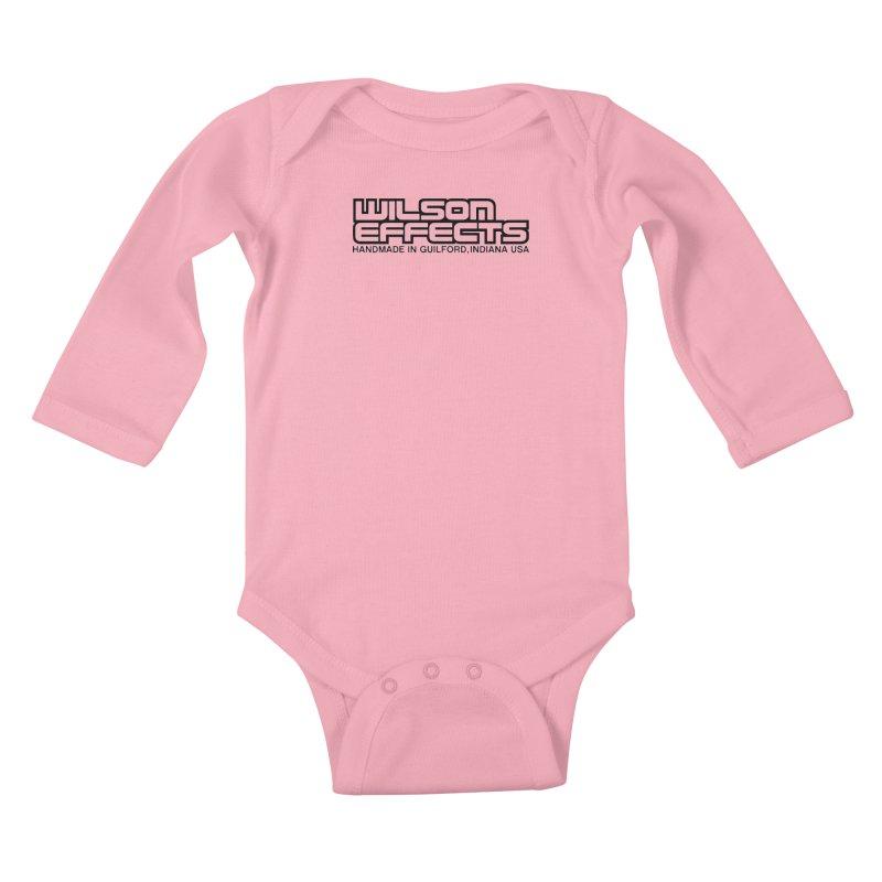 Wilson Logo Handmade in Guilford, IN. Kids Baby Longsleeve Bodysuit by Wilson Effects Artist Shop