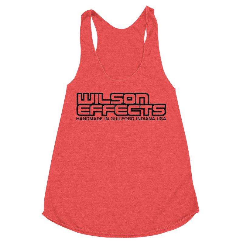Wilson Logo Handmade in Guilford, IN. Women's Racerback Triblend Tank by Wilson Effects Artist Shop