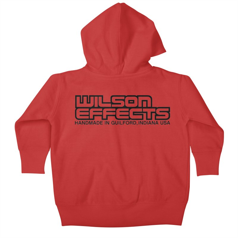 Wilson Logo Handmade in Guilford, IN. Kids Baby Zip-Up Hoody by Wilson Effects Artist Shop