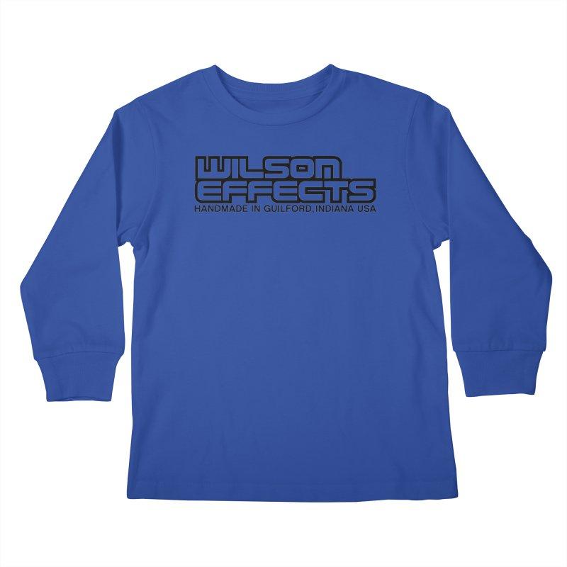 Wilson Logo Handmade in Guilford, IN. Kids Longsleeve T-Shirt by Wilson Effects Artist Shop