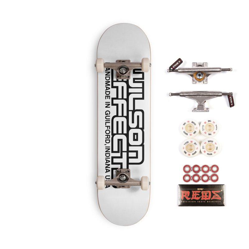 Wilson Logo Handmade in Guilford, IN. Accessories Complete - Pro Skateboard by Wilson Effects Artist Shop