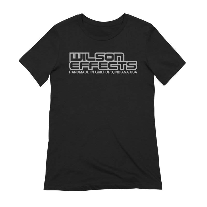 Wilson Effects Handmade Grey Logo in Women's Extra Soft T-Shirt Black by Wilson Effects Artist Shop