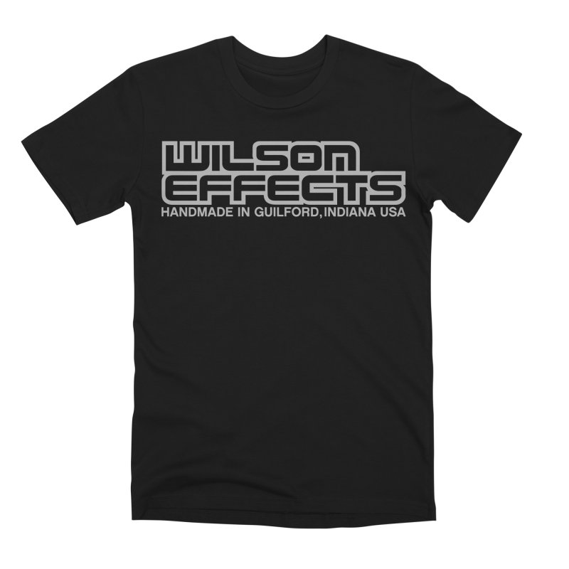 Wilson Effects Handmade Grey Logo in Men's Premium T-Shirt Black by Wilson Effects Artist Shop