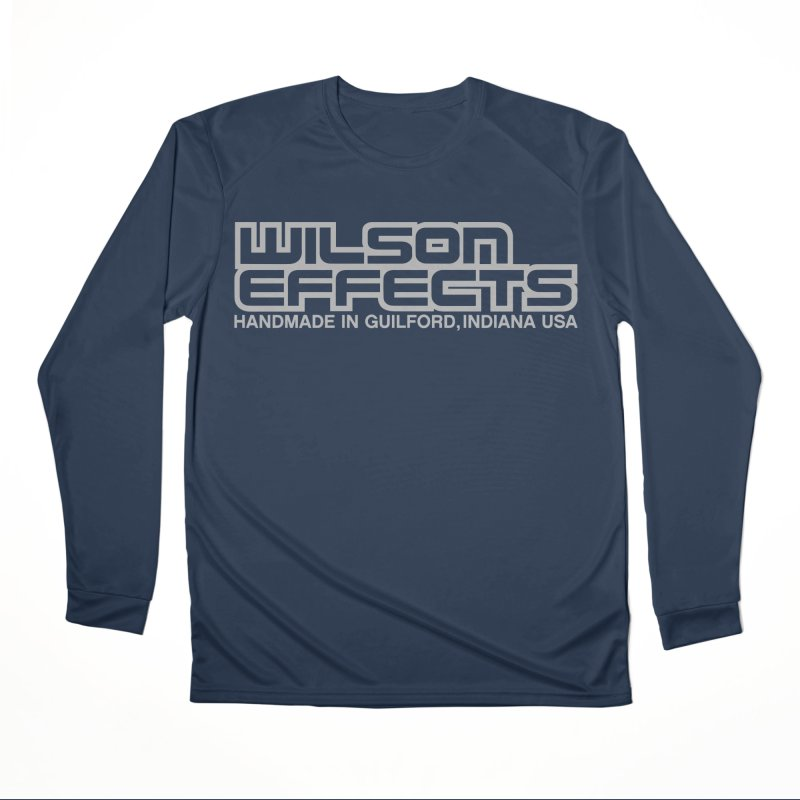 Wilson Effects Handmade Grey Logo Men's Performance Longsleeve T-Shirt by Wilson Effects Artist Shop