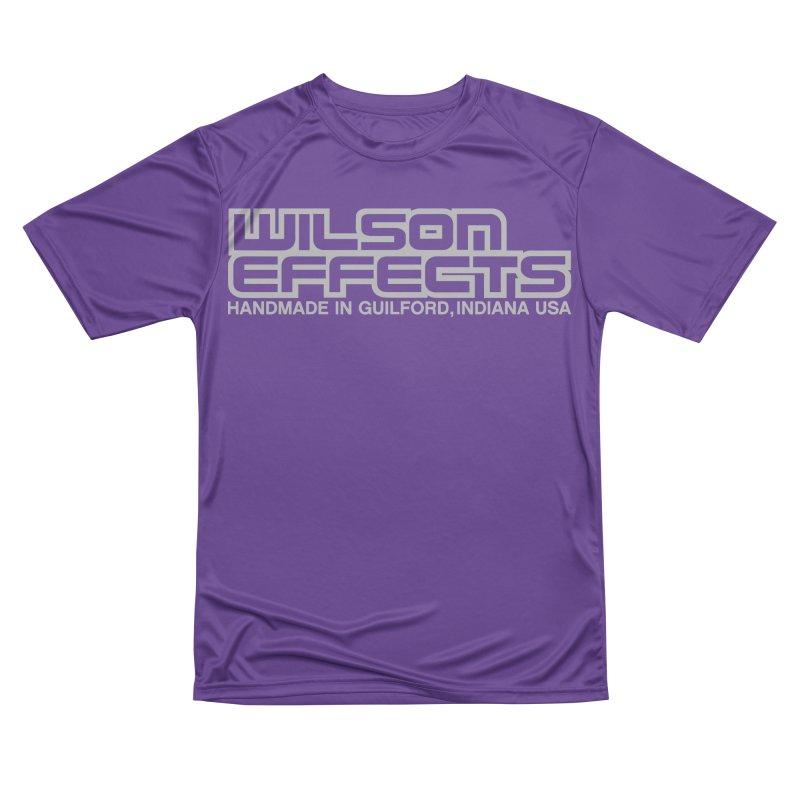 Wilson Effects Handmade Grey Logo Men's Performance T-Shirt by Wilson Effects Artist Shop