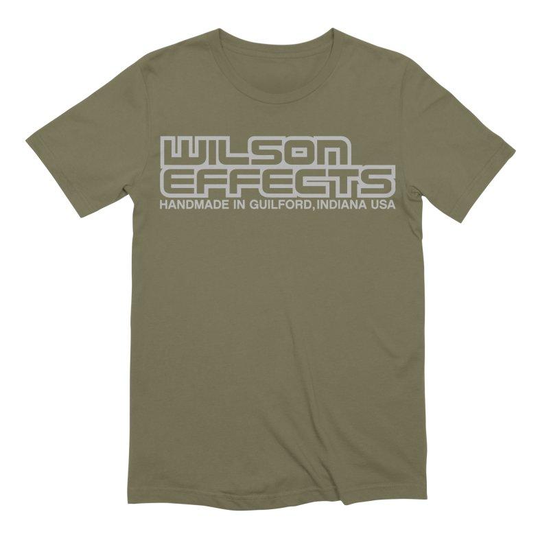 Wilson Effects Handmade Grey Logo Men's Extra Soft T-Shirt by Wilson Effects Artist Shop