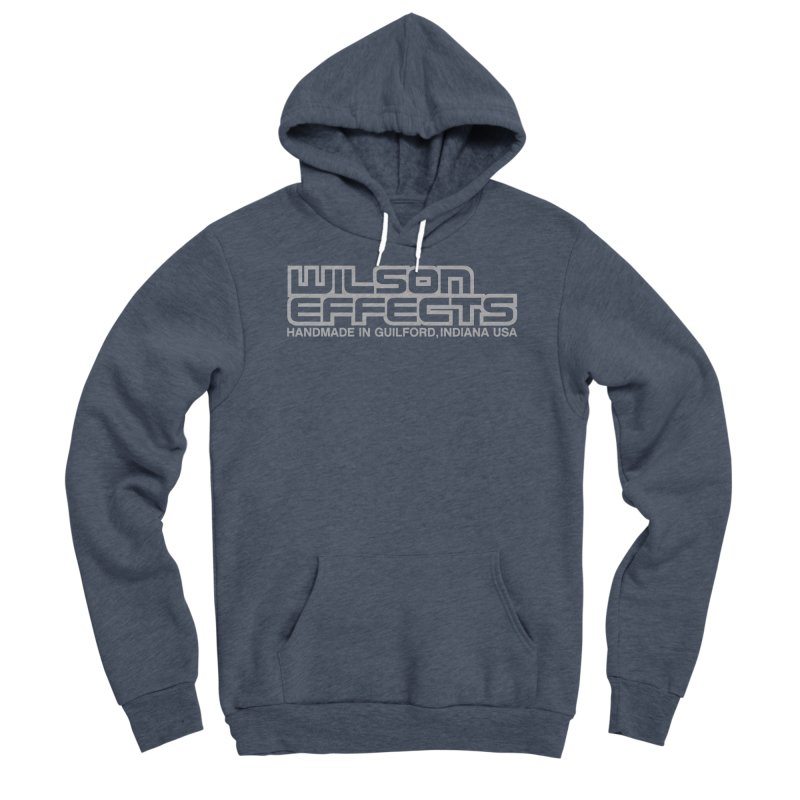 Wilson Effects Handmade Grey Logo Men's Sponge Fleece Pullover Hoody by Wilson Effects Artist Shop