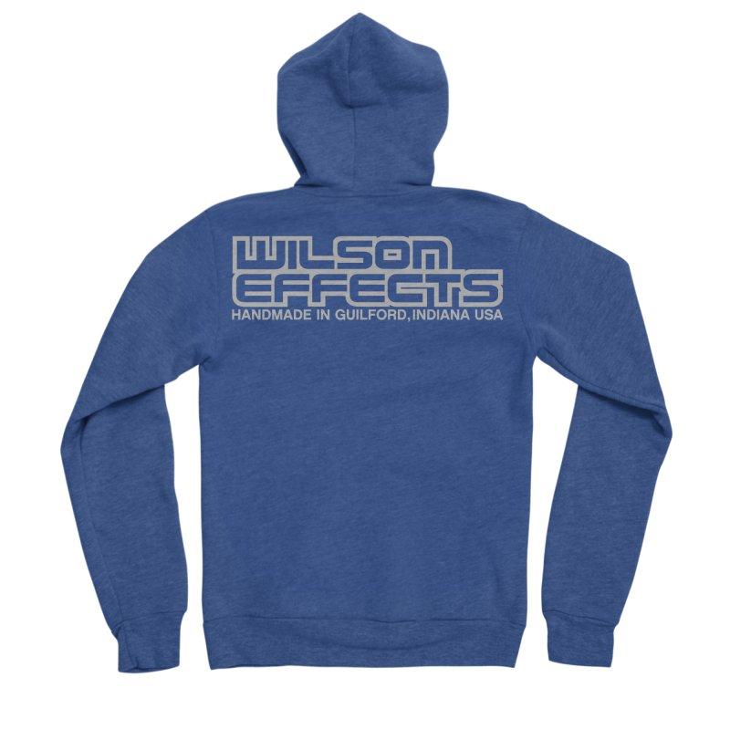 Wilson Effects Handmade Grey Logo Men's Sponge Fleece Zip-Up Hoody by Wilson Effects Artist Shop