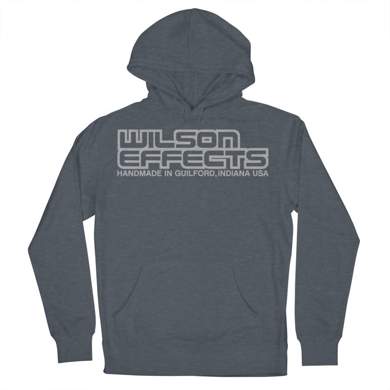 Wilson Effects Handmade Grey Logo Men's French Terry Pullover Hoody by Wilson Effects Artist Shop