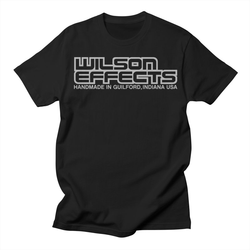 Wilson Effects Handmade Grey Logo in Women's Regular Unisex T-Shirt Black by Wilson Effects Artist Shop