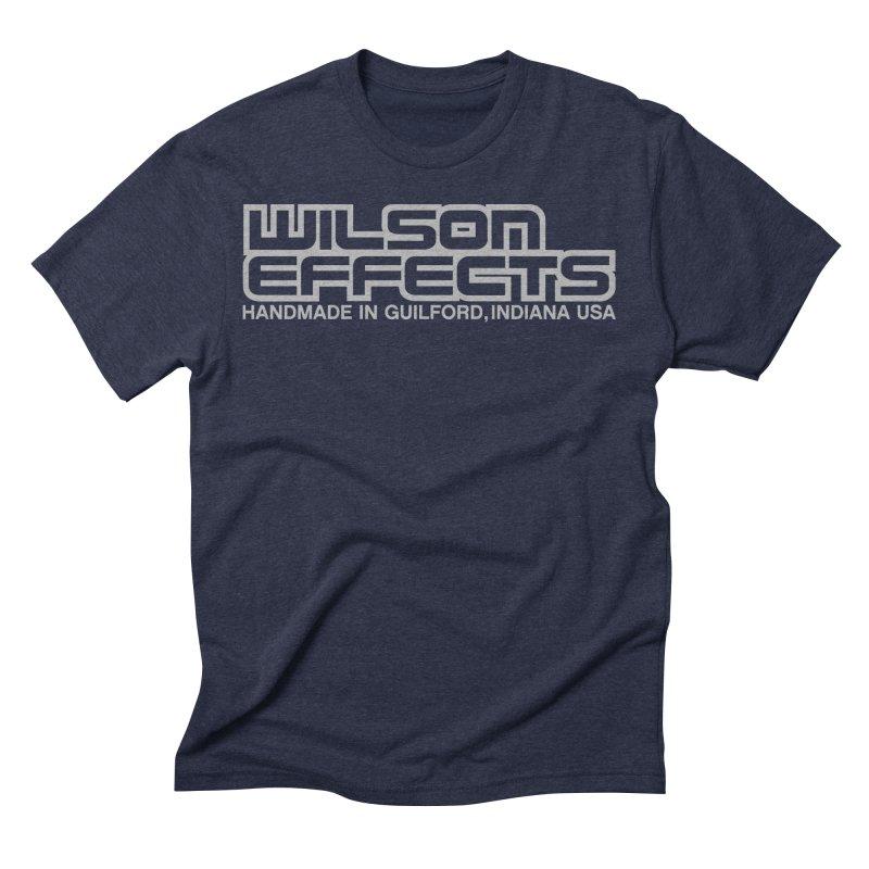 Wilson Effects Handmade Grey Logo Men's Triblend T-Shirt by Wilson Effects Artist Shop